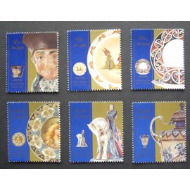 New Zealand 1993 Royal Doulton Ceramics Exhibition  SG 1713-1718