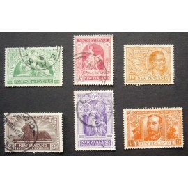 New Zealand 1920 Victory Stamps SG 453 - 458