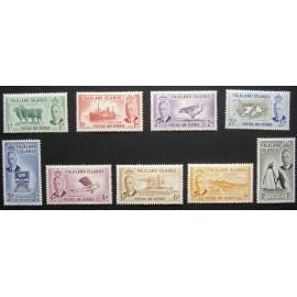Falkland Islands 1952 SG 172 - 180