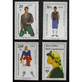 Cyprus - Turkish Cypriot Posts 1987  SG212 - 215