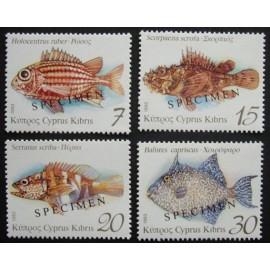 Cyprus 1993  SG837 - 840 SPECIMEN