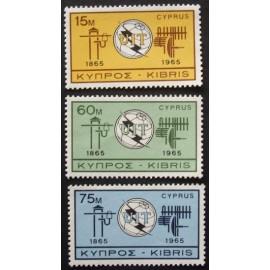 Cyprus 1965  SG262 - 264 I.T.U. Centenary